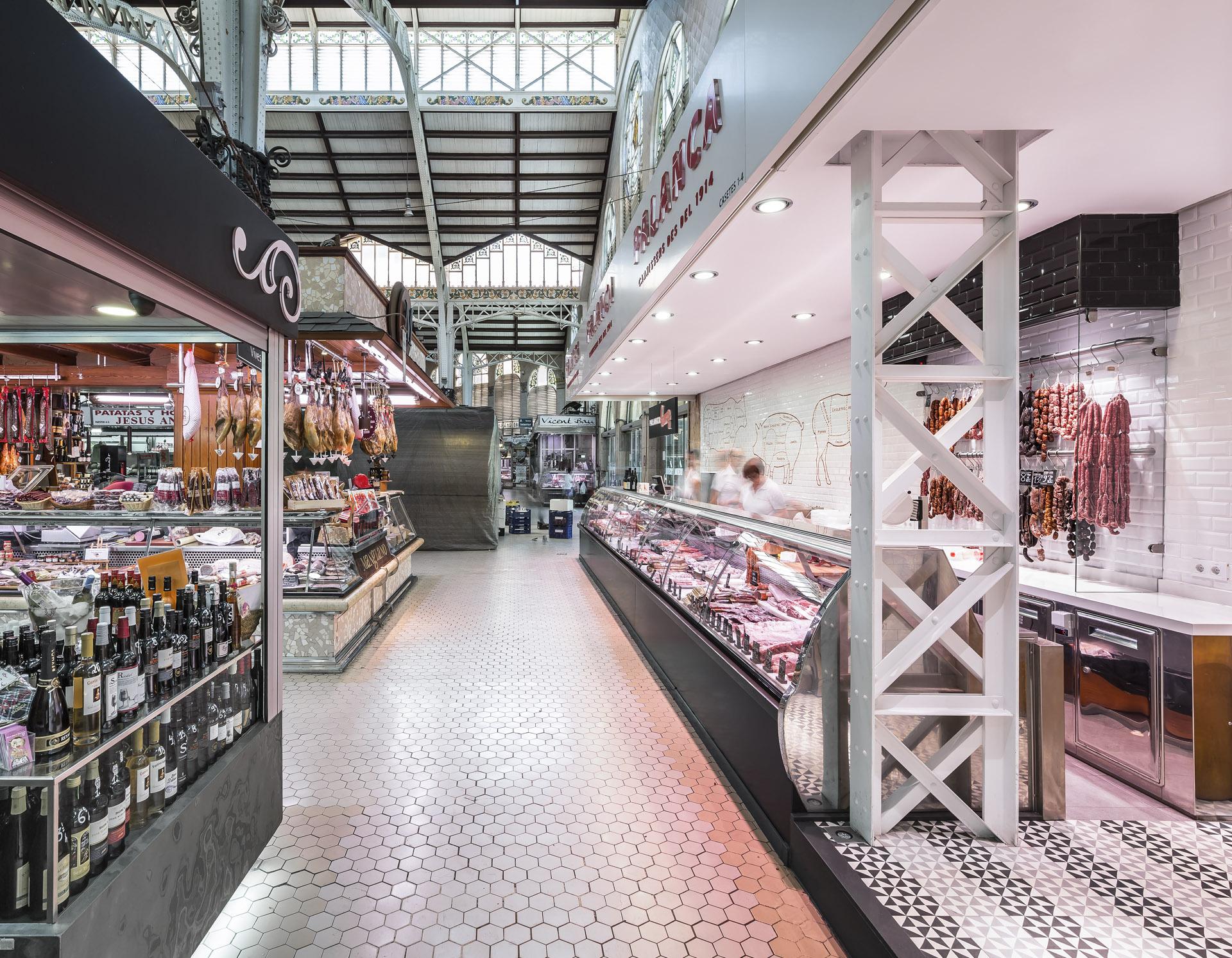 Palanca Carnicería. Puesto en el Mercado Central de Valencia.